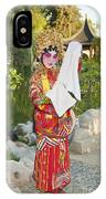 Chinese Opera Girl - In Full Traditional Chinese Opera Costumes. IPhone Case