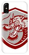 Chinese Red Dragon Head Shield IPhone Case