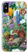 Chipmunk Garden IPhone Case