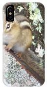 Chipmunk On A Log IPhone Case