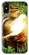 Chipmunk Saying Grace IPhone Case