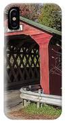 Chiselville Covered Bridge IPhone Case