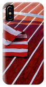 Chris Craft With American Flag IPhone Case