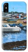 Christchurch Hengistbury Head Beach With Boats IPhone Case
