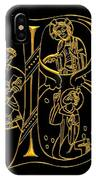 Christian Initial Letter B IPhone Case