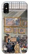 Christies Auction Room, Illustration IPhone Case