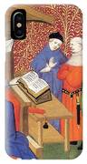 Christine De Pizan Lecturing To Men IPhone Case