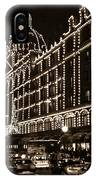 Christmas At Harrods Department Store - London IPhone Case