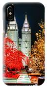 Christmas At Temple Square IPhone Case