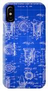 Christmas Bulb Socket Patent 1936 - Blue IPhone Case