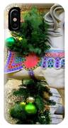 Christmas Carousel Horse With Pine Branch IPhone Case