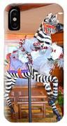 Christmas Carousel Zebra IPhone Case
