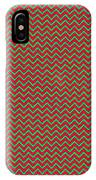Christmas Colors Chevron IPhone Case