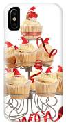 Christmas Cupcakes On Stand IPhone Case