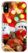 Christmas Dog And Penguin IPhone Case