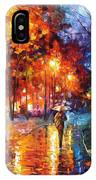 Christmas Emotions - Palette Knife Oil Painting On Canvas By Leonid Afremov IPhone Case