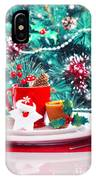 Christmas Eve Table Decoration IPhone Case