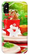 Christmas Eve Table Setting IPhone Case