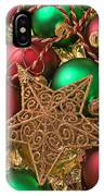 Christmas Gold Star IPhone Case