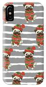 Christmas Holidays Seamless Vector IPhone Case