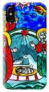 Christmas Icon Religious Naive Folk Art Nativity IPhone Case