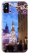 Christmas Illumination On Piwna Street In Warsaw IPhone Case
