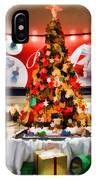 Christmas In The Train Station IPhone Case