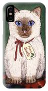 Christmas Kitten IPhone Case