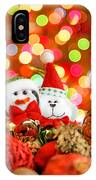 Christmas Penguin And Puppy IPhone Case