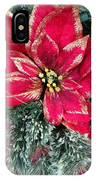Christmas Poinsettia IPhone Case