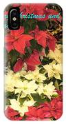 Christmas Poinsettias  IPhone Case