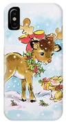 Christmas Reindeer And Rabbit IPhone Case