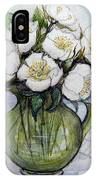 Christmas Roses IPhone Case