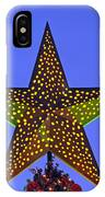 Christmas Star During Dusk Time IPhone Case