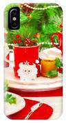 Christmas Table Setting IPhone Case