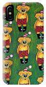 Christmas Teddies IPhone Case