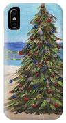 Christmas Tree At The Beach IPhone Case