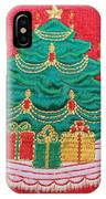 Christmas Tree Embroidered IPhone Case
