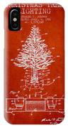 Christmas Tree Lighting Patent From 1926 - Red IPhone Case by Aged Pixel