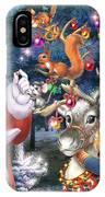 Christmas Tree-rudolph IPhone Case