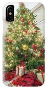 Christmas Tree  With Presents Tall Perspective IPhone Case