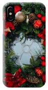 Christmas Wreath Greeting Card IPhone Case