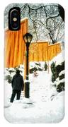 Christo - The Gates - Project For Central Park In Snow IPhone Case