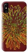 Chrysanthemum Fire IPhone Case