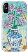 Chrysanthemum Study With Chinese Symbols  IPhone Case