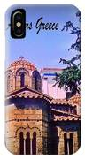 Church In Beautiful Athens IPhone Case
