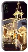 Church In Dollywood At Christmas IPhone X Case