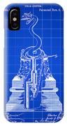 Cigar Lighter Patent 1888 - Blue IPhone Case