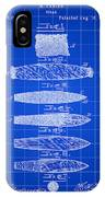 Cigar Patent 1887 - Blue IPhone Case