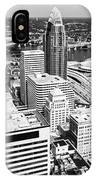 Cincinnati Aerial Skyline Black And White Picture IPhone Case